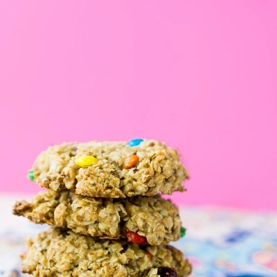 Easy Trail Mix Breakfast Cookies