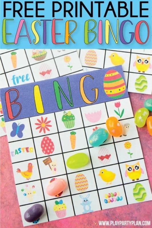 free printable easter bingo