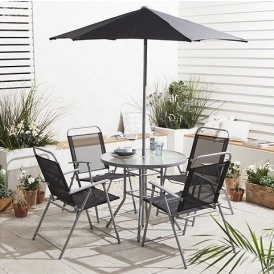 outside tables and chairs tesco office chair ratings reviews hawaii 6 piece garden furniture set 55 direct