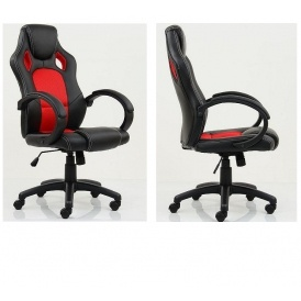 desk chair tesco used kitchen table and chairs astro racing style gaming office black with red 54 99