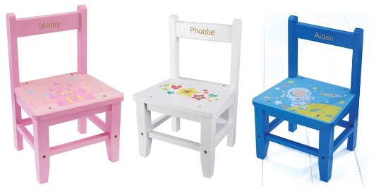 Personalised Childrens Wooden Chairs From 899 Studio