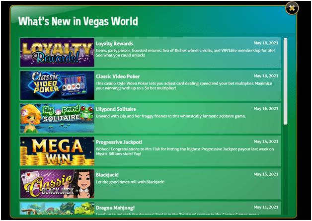 Bonuses - Vegas World