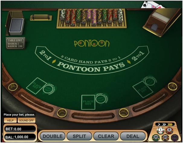How to play Pontoon at Emu Casino