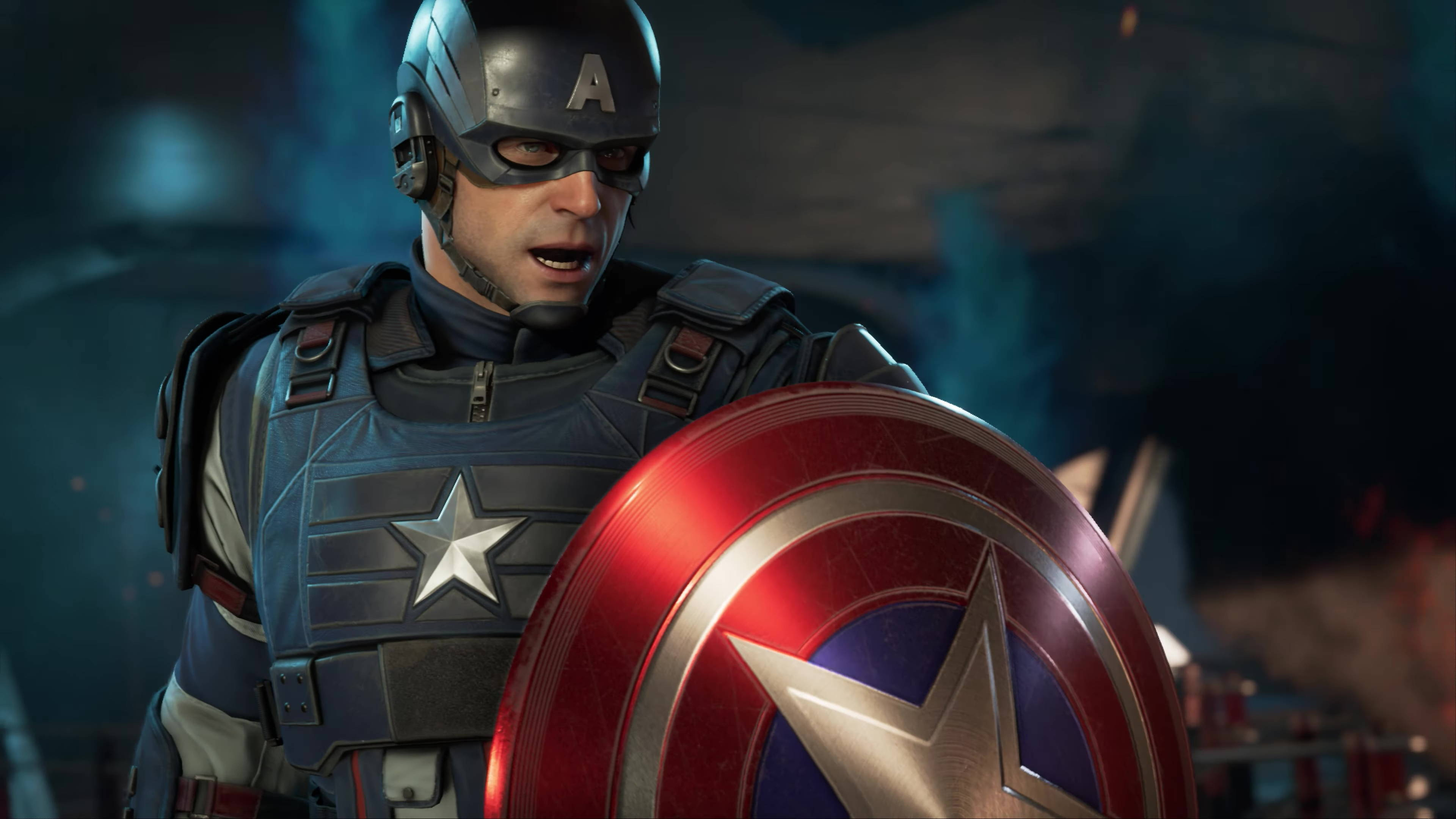 Marvel's Avengers tries to capture sentiments of patriotism and of fighting for freedom into their designs