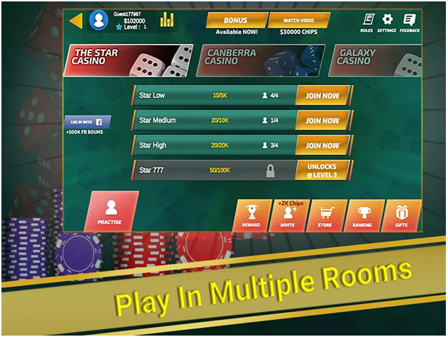 Sic Bo (Tai Xiu) - Multiplayer Casino App to play Sic Bo with your Android mobile