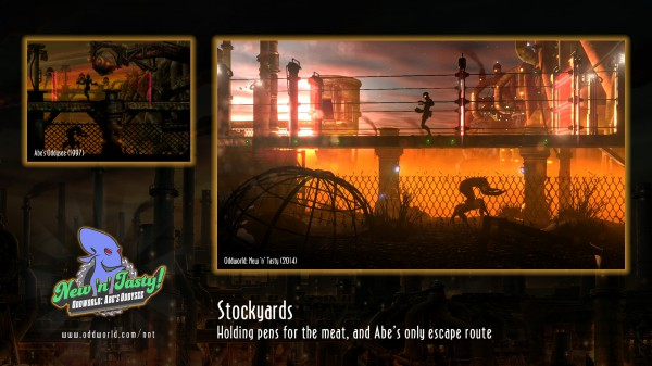 Una schermata comparativa che dimostra quanto sia migliorata la realizzazione tecnica, mantendo invariata l'atmosfera originale