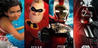 Disney marvel pixar star wars