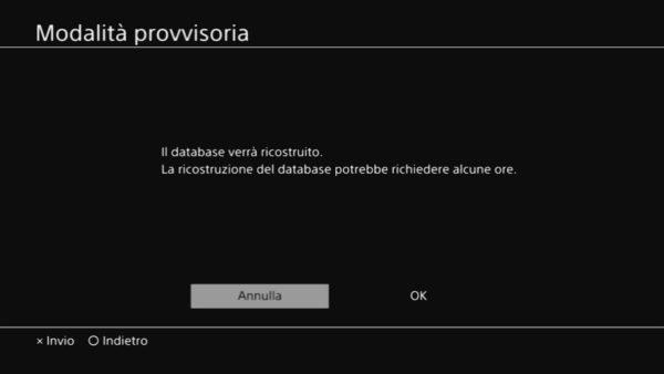 PlayStation 5 Modalità Provvisoria