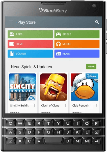 Google Play Store for BlackBerry
