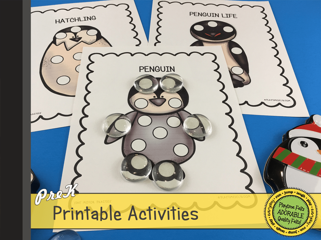 34 Penguin Printable Activities For Preschoolers And