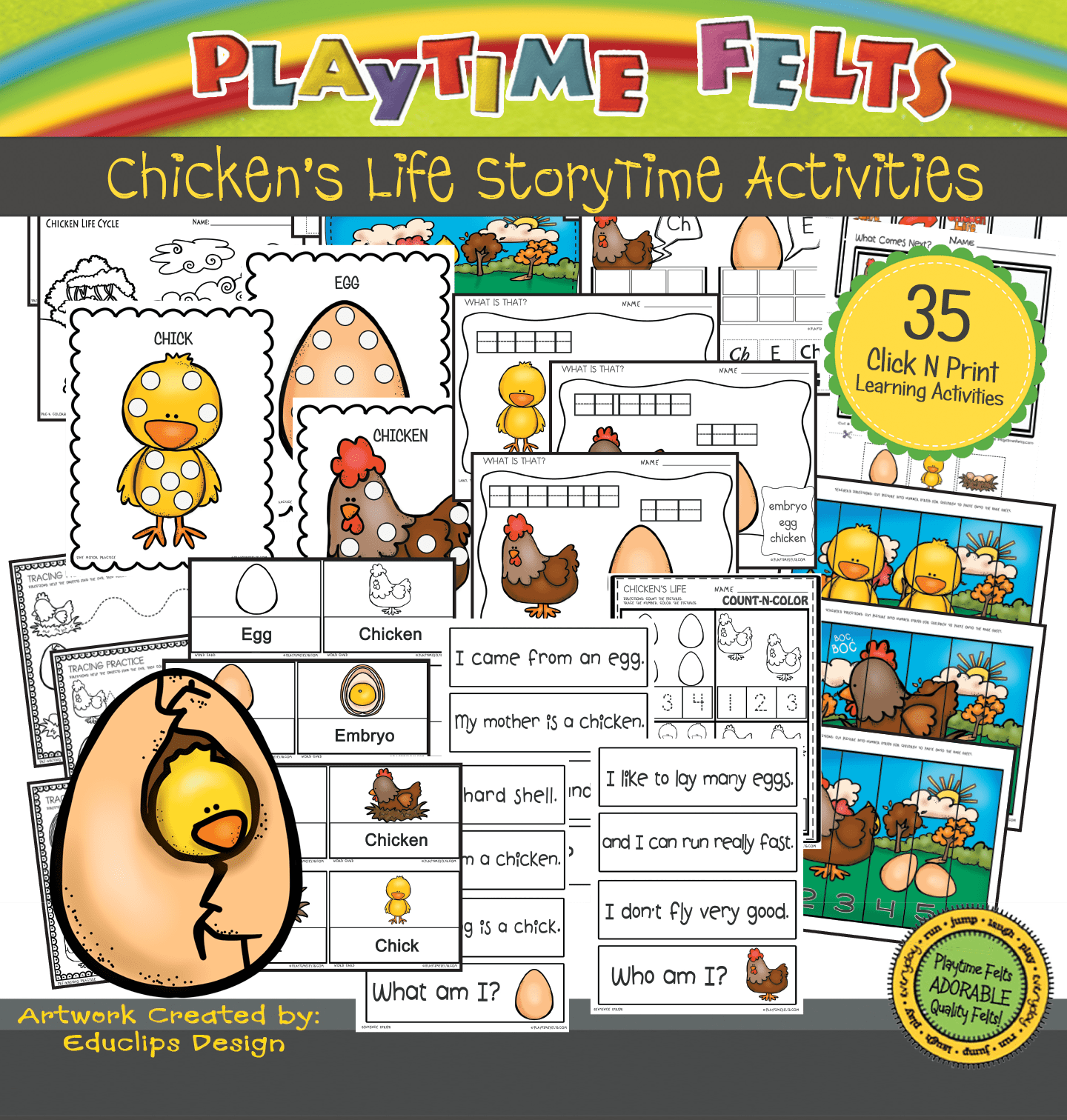 Chicken Life Cycle Preschool Activities