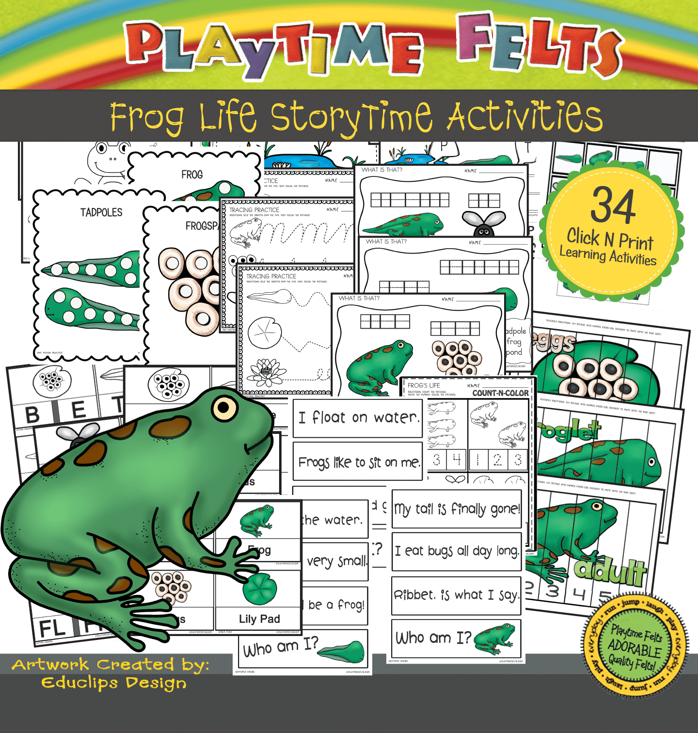 Frog Life Cycle Activity Sheets For Preschool