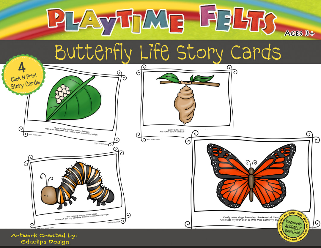 Butterfly Life Cycle Printable Story Cards Digi Download