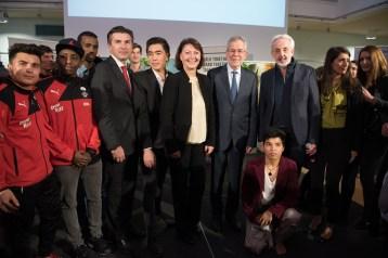 Bank Austria Vorstand, Bundespräsident van der Bellen, Joe Schrammel und PlayTogetherNow