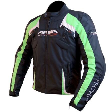 Armr Moto Eyoshi Motorcycle Jacket Black/Green