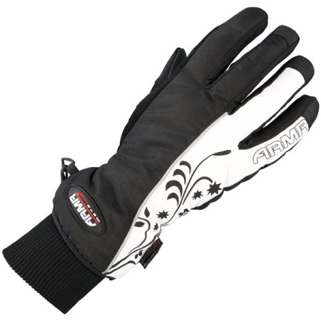 Armr Moto LWP225 Motorcycle Gloves Black/White