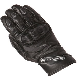 Buffalo Fresco Motorcycle Gloves Black