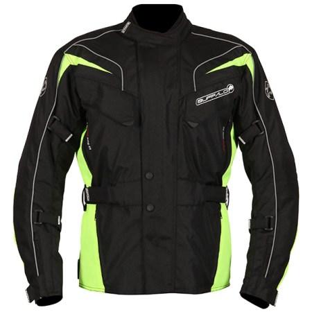 Buffalo Hurricane Motorcycle Jacket Black/Yellow