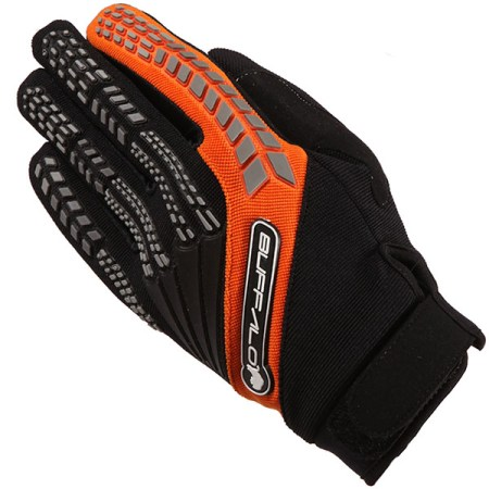 Buffalo Focus Motocross Gloves - Black/Orange