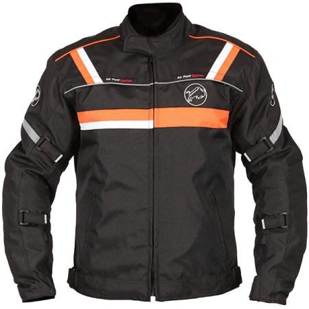 Buffalo Typhoon Motorcycle Jacket Black/Orange