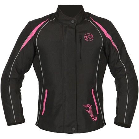 Buffalo Verona Ladies Motorcycle Jacket Black/Pink