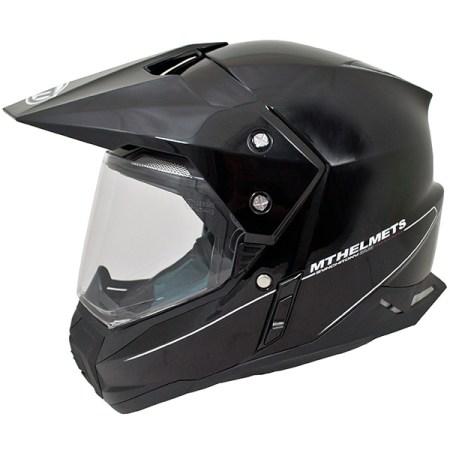 MT Synchrony Dual Sport Helmet - Gloss Black