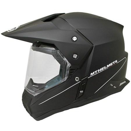 MT Synchrony Dual Sport Helmet - Matt Black