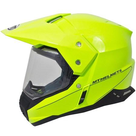 MT Synchrony Dual Sport Helmet - Fluorescent Yellow