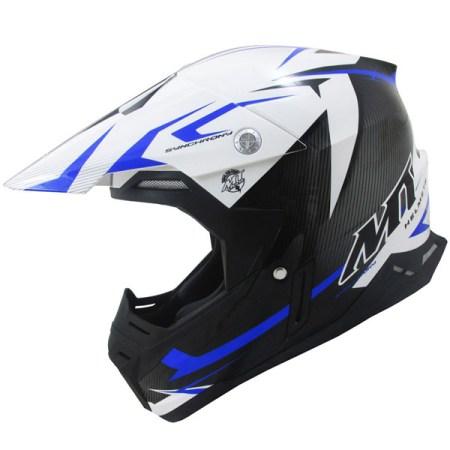 MT Synchrony Steel Motocross Helmet Black/Blue
