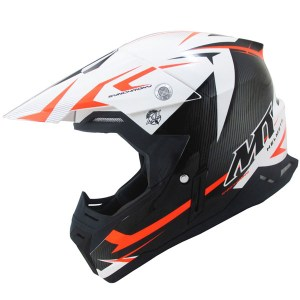 MT Synchrony Steel Motocross Helmet Black/Orange