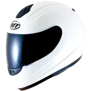 MT Thunder Motorcycle Helmet Gloss White