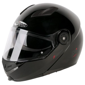 Nitro F345 Uno Flip Front Motorcycle Helmet Gloss Black