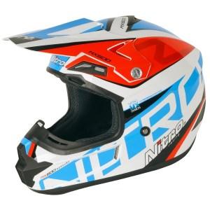 Nitro MX600 Rebound Motocross Helmet White/Blue