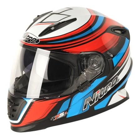 Nitro NRS-01 Torque Motorcycle Helmet Black/Blue