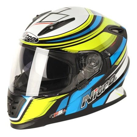 Nitro NRS-01 Torque Motorcycle Helmet Black/Yellow