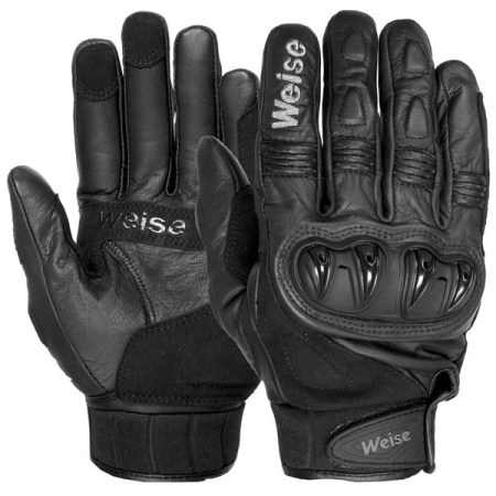 Weise Street Fight Motorcycle Gloves Black