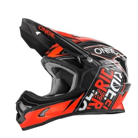 Oneal 3 Series Fuel Motocross Helmet Black/Red