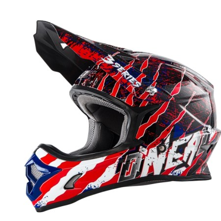 Oneal 3 Series Mercury Motocross Helmet Black/Red