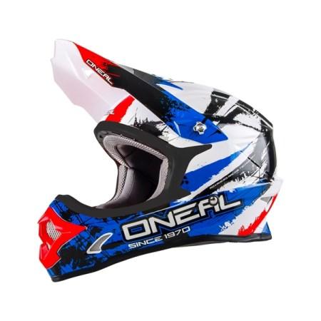 Oneal 3 Series Shocker Motocross Helmet Blue