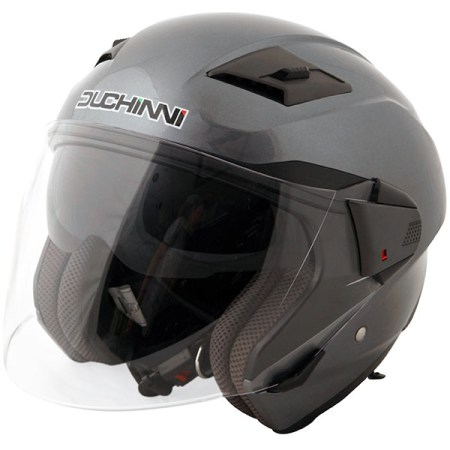 Duchinni D205 Open Face Motorcycle Helmet Titanium