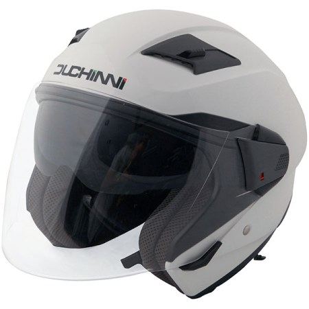 Duchinni D205 Open Face Motorcycle Helmet - White