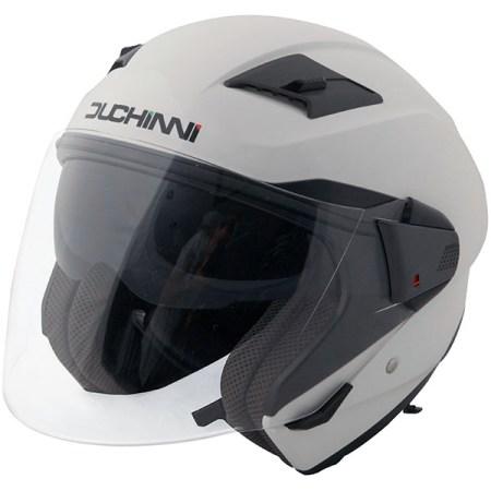 Duchinni D205 Open Face Motorcycle Helmet - White
