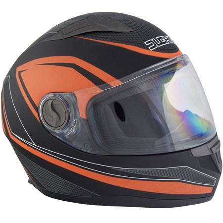 Duchinni D705 Synchro Motorcycle Helmet Orange