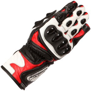Buffalo BR30 Motorcycle Gloves Red