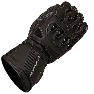 Buffalo Spartan Motorcycle Gloves Black