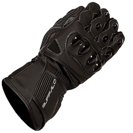 Buffalo Spartan Motorcycle Gloves - Black