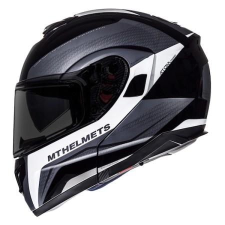 MT Atom Tarmac Motorcycle Helmet - Black