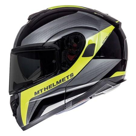 MT Atom Tarmac Motorcycle Helmet - Yellow
