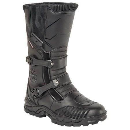 Akito Latitude Motorcycle Boots - Black