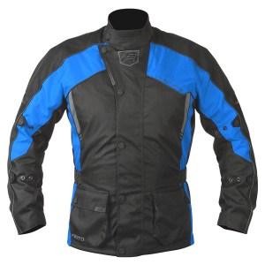 Akito Python Motorcycle Jacket Blue